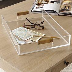 The stylish Livy lucite tray w/ brass details from @ballarddesigns