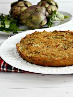 Frittata di carciofi al forno ricetta facile di mamma Francesca! I carciofi si aggiungono crudi all'impasto!