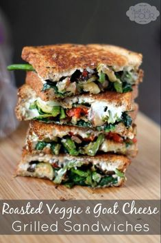 9 Gourmet Grilled Cheese Recipes That Are Totally Easy to Make Roasted vegetable grilled cheese sandwich Grill Cheese Sandwich Recipes, Gourmet Sandwiches, Grilled Cheese Recipes, Veggie Sandwich, Grilled Vegetables, Wrap Sandwiches, Vegetable Sandwich Recipes, Steak Sandwiches, Gormet Grilled Cheese