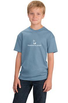 Powered By Prayer Youth Tee on SonGear.com