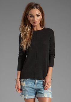 360 Sweater Bree Cashmere Pullover in Black
