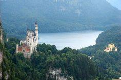Two Castles So Close  - Neuschwanstein Castle and Hohenscheangau