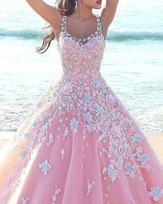 9c8bbd57120b  Pingrann from nourannah on Pinterest  Floral applique wedding dresses are  so feminine