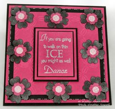 Dancing on Thin Ice - created using a stamp from the wordage collection from Bee Crafty
