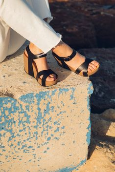 Cork Sandals, Online Collections, Photoshoot Inspiration, Comfy, Website, Natural, Fashion, Moda, Fashion Styles