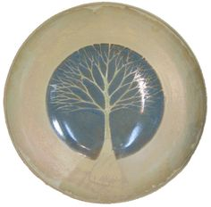 wheel thrown pottery ideas | Glazed Tree Bowl by Sarah Russell