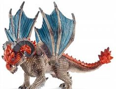 The Schleich Dragon Battering Ram from the knights collection - Discounts on all Schleich Toys at Wonderland Models.
