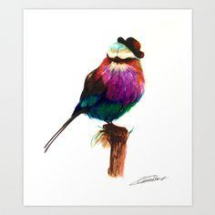 BIRD Art Print by Lorena Carvalho | Society6