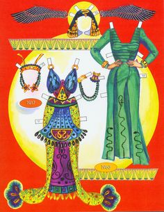 Cleopatra's costumes. Page 7 of 8 Pages. By David Wolfe, Paperdollywood.