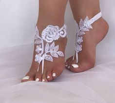 Barefoot Sandals Wedding Shoes Lace Barefoot Sandals Wedding Anklets Wrist Sandals Beach Weddin - Sandals Shoes - Ideas of Sandals Shoes - Barefoot Sandals Wedding Shoes Lace Barefoot Sandals Wedding Anklets Wrist Sandals Beach Weddin Barefoot Sandals Wedding, Beach Wedding Shoes, Bridal Shoes, Barefoot Beach, Foot Jewelry Wedding, Converse Wedding Shoes, Designer Wedding Shoes, Wedding Gloves, Bare Foot Sandals