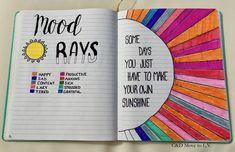 June Bullet Journal Mood Tracker | C&D Move to L.V. | Making my own sunshine!