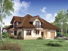 Projekat kuće sa potkrovljem i garažom – Minor House Outside Design, House Front Design, Tiny House Design, Village House Design, Kerala House Design, Modern Bungalow House, Bungalow House Plans, Dream Home Design, Home Design Plans