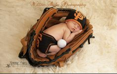 SF Giants Crochet hat & Diaper Cover Set by MommyPowersCreations, $25.00