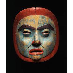Female moon mask  ca. 1830–50, Tlingit, possibly Sitka. Alaska.