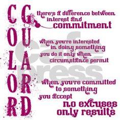 COLOR GUARD: Commitment Sticker (Rectangle)