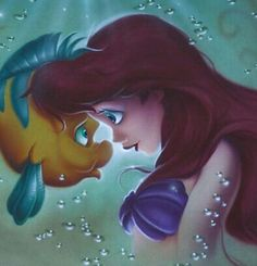 Ariel and Flounder - The Little Mermaid