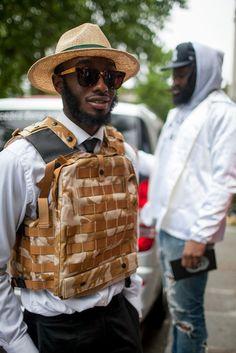 London Men's Fashion Week street style [Photo: Kuba Dabrowski]