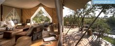This tented site is located in southern Kenya, in the heart of the Masai Mara Reserve and twenty minutes drive from the nearest wildebeest river crossing. 250km from Nairobi and 80km from Narok.