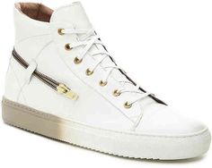 Men's Teo High-Top Sneaker -White Saffiano Leather #men #fashion #male #style #menfashion #menwear #menstyle Klick to see the Price