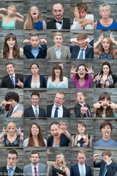 Take an individual funny pic of the whole bridal party to make an awesome collage later