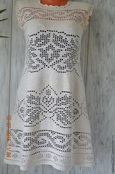 Filet crochet dress
