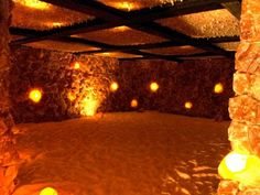 This large salt cave is open for hourly halotherapy sessions.  This is in Santa Barbara, CA.  Unbelievably beautiful!!! I need to go there.