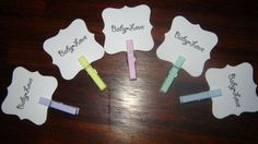 Baby Shower Accessory Tags Set of 20 by BellaMEvents on Etsy, $7.00