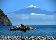 La Gomera with Tenerife in the distance.  Canary Islands, Spain.  Fabulous honeymoon!