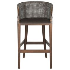 Safavieh Furniture - Inspired by the exotic tales of Hemmingway, the Brando rattan bar stool with brown seat cushion is a nod to the art and adventure of imbibing.