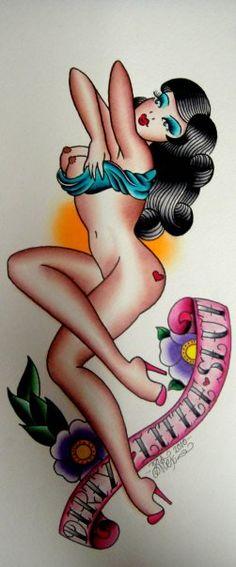 Pin Up Tattoo Flash | KYSA #ink #design #tattoo