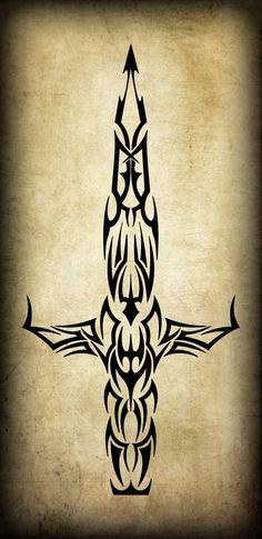 word dagger tattoo - Google Search