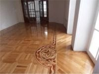 Modern design for hardwood floor inlays