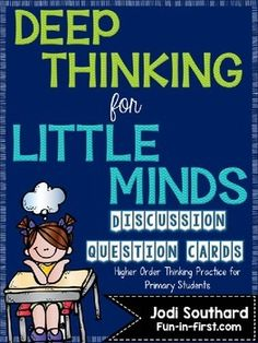 These question cards will allow your students to work on higher order thinking skills as they use critical thinking and problem solving skills to discuss their answers. This packet includes 100 different questions that are perfect for classroom discussions.