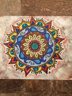 Mandala, Wall Art, Meditate, Positive Energy, Yoga, Hippie, Gypsy Soul, Painting, Acrylic, Concious Artist