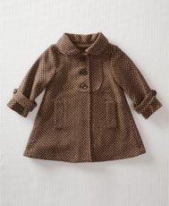 Tweed baby coat