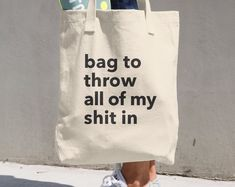 Reusable Grocery Bag by Coffee and Cats Co on Etsy Diy Tote Bag, Cute Tote Bags, Bag Quotes, Printed Bags, Reusable Bags, Cotton Bag, Purses And Bags, Forgiveness Quotes, Cats