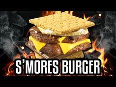 Crazy Epic Meal Time Smores Burger!! hahaha