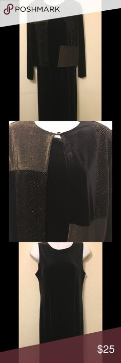 🎄Long Velvet Holiday Dress With Sparkly Jacket Sleeveless dress with jacket. Wore once for Christmas party. Excellent condition! Dresses Maxi