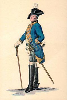 Prussian Officer Print circa 1762