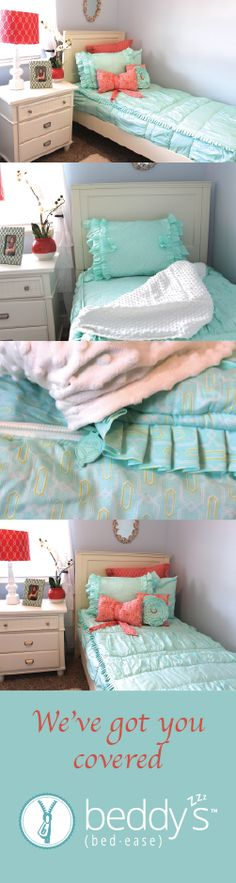 The best zipper bedding! Perfect for bunk beds too. Brilliant!!!