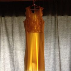 Yellow spring time semi- last chance Frills dresS, gently used! Cute and fashionable dresS! chadwick's collection Dresses