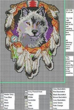 Wolf dream catcher wall hanging - I made this year's ago and it's currently…