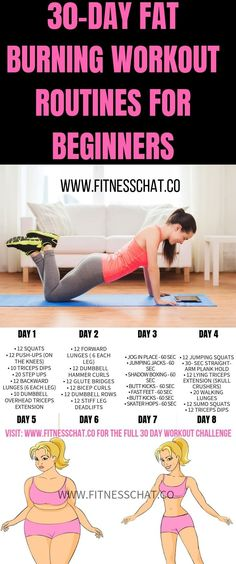 Summer body goals Lose weight fast with this Fat Burning Workout Routines for Beginners. Join the 30 day challenge for a full body workout, ab workout, leg workout, and upper body workout plan for women Full Body Workouts, Upper Body Workout Plan, Ab Workouts, Fitness Workouts, Upper Body Workout For Women, At Home Workouts For Women Full Body, Beginner Full Body Workout, Gym Workouts To Lose Weight, Beginner Workouts