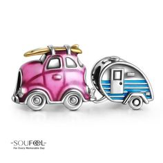 Soufeel Travel Car and Trailer Charm Set Shop->http://www.soufeel.com/self-driving-travel-charm-set-925-sterling-silver.html?utm_campaign=Pin