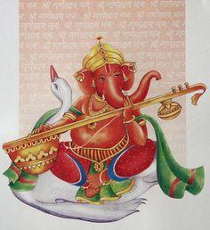 Ganesha with Sitar