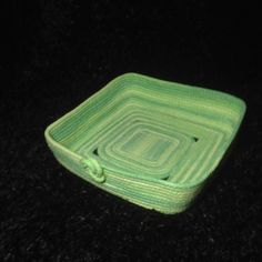 Basket - Square Green Variegated by ALittleCrafTee on Etsy https://www.etsy.com/listing/214222733/basket-square-green-variegated