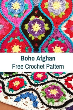 Boho Crochet Afghan With Gorgeous Design [Free Pattern] - Knit And Crochet Daily