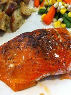 The Cookin' Chicks: Brown Sugar Glazed Salmon