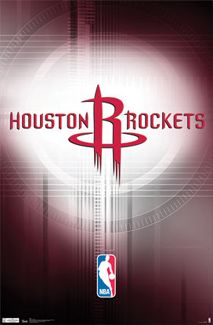 Houston Rockets Official NBA Basketball Team Logo Poster - Costacos Sports Inc.