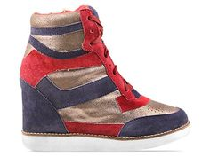 Jeffrey Campbell Napoles in Blue Silver Red at Solestruck.com